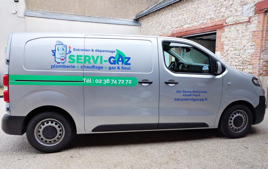 habillage véhicule pour Servi Gaz à Ingré