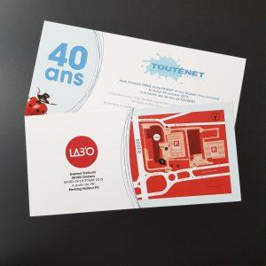 Impression - Cartes d'invitation Touténet