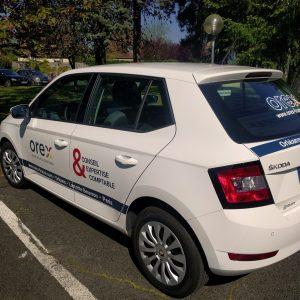 Habillage voiture du cabinet Orex