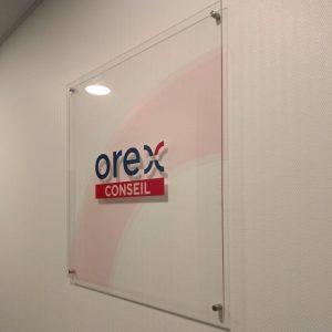 Signalétique - Plaque décorative du cabinet comptable Orex