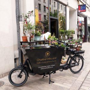 Habillage du vélo de Charline Pritscaloff