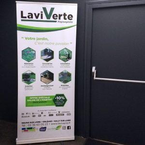 Support événementiel - Kakemono Laviverte