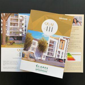 Impression - Dépliants Clares Immobilier