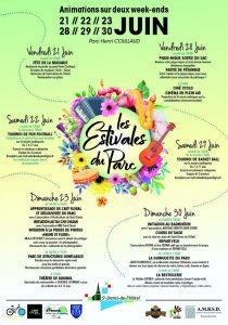 Création d'une affiche pour promouvoir les Estivales du Parc de Saint Denis de l'Hôtel.